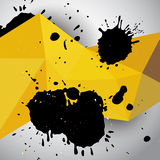 Abstracte gele grunge geometrische achtergrond Stock Afbeeldingen