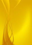 Abstracte gele krommen als achtergrond. Royalty-vrije Stock Afbeeldingen