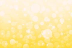 Abstracte gele, oranje, gouden lichten, bokeh achtergrond Royalty-vrije Stock Afbeelding