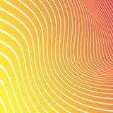 Abstracte gele, oranje, rode achtergrond met witte lijnen Vector stock illustratie