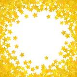 Abstracte gele sterachtergrond Vector illustratie vector illustratie
