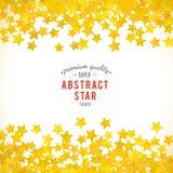 Abstracte gele sterachtergrond Vector illustratie stock illustratie