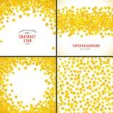 Abstracte gele sterachtergrond Vector illustratie royalty-vrije illustratie