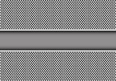 Abstracte gele technologiebanner op grijze van het het patroonontwerp van het cirkelnetwerk moderne futuristische vector als acht Royalty-vrije Stock Afbeelding