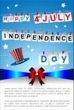Abstracte Gelukkige 4 van Juli Stock Afbeelding