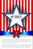 Abstracte Gelukkige 4 van Juli Royalty-vrije Stock Foto