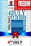 Abstracte Gelukkige 4 van Juli Royalty-vrije Stock Afbeeldingen