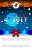 Abstracte Gelukkige 4 van Juli Stock Foto's