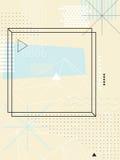Abstracte geometrisch De elementen van het ontwerp royalty-vrije illustratie