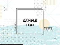 Abstracte geometrisch De elementen van het ontwerp stock illustratie