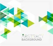 Abstracte geometrisch Het moderne overlappen Stock Foto