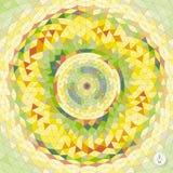 Abstracte geometrisch mozaïek Vector Royalty-vrije Stock Afbeeldingen