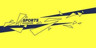 Abstracte geometrisch Sportenaffiche met geometrische cijfers royalty-vrije illustratie