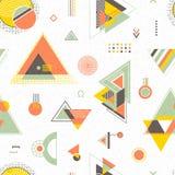 Abstracte geometrisch Trendy naadloos patroon Royalty-vrije Stock Fotografie