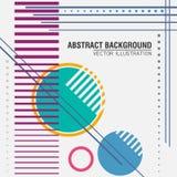 Abstracte geometrisch Vector illustratie Royalty-vrije Stock Afbeeldingen