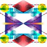 Abstracte geometrische achtergrond Royalty-vrije Stock Foto's