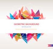 Abstracte geometrische achtergrond, driehoeksontwerp Stock Afbeeldingen