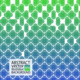 Abstracte geometrische achtergrond groen en blauw van cirkels en kruisen voor het schermspaarder, banner, artikel, post, textuur, stock illustratie