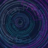 Abstracte geometrische achtergrond met concentrische cirkels Heldere cirkels op grafische geometrische decoratieve lijnen donkerb vector illustratie