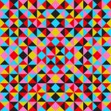 Abstracte geometrische achtergrond met driehoeken Stock Foto