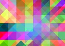 Abstracte geometrische achtergrond met kleurrijke tegels Stock Foto