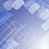Abstracte geometrische achtergrond met zeshoeken Royalty-vrije Stock Fotografie
