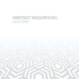 Abstracte geometrische achtergrond met zeshoeken in grijze kleuren - vectoreps8 Royalty-vrije Stock Afbeeldingen