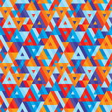 Abstracte geometrische achtergrond - naadloos vectorpatroon voor presentatie, boekje, website en ander ontwerpproject stock illustratie