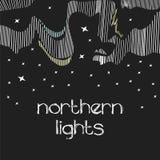 Abstracte geometrische achtergrond, noordelijke licht, polair, Royalty-vrije Stock Afbeeldingen