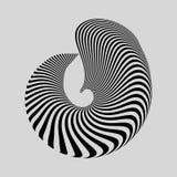 Abstracte geometrische achtergrond Patroon met optische illusie stock illustratie