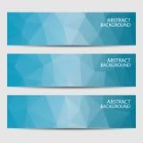 Abstracte Geometrische Achtergrond van driehoeken Abstracte geometrische uitnodiging of banner Vector illustratie Stock Illustratie