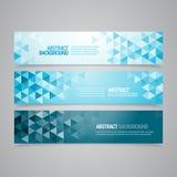 Abstracte Geometrische Banners Royalty-vrije Stock Foto's