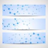 Abstracte geometrische bannersmolecule en mededeling Vector Illustratie