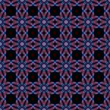 Abstracte geometrische bloemen naadloze patroon rode en blauwe bloemen vector illustratie