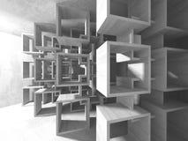 Abstracte geometrische concrete architectuurachtergrond Stock Afbeelding