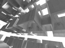 Abstracte geometrische concrete architectuurachtergrond Stock Afbeeldingen