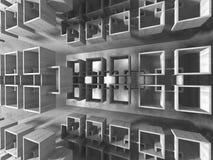 Abstracte geometrische concrete architectuurachtergrond Royalty-vrije Stock Afbeelding