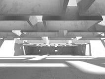 Abstracte geometrische concrete architectuurachtergrond Stock Fotografie