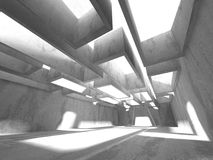 Abstracte geometrische concrete architectuurachtergrond Stock Foto