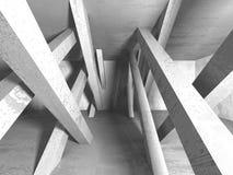 Abstracte geometrische concrete architectuurachtergrond Royalty-vrije Stock Foto