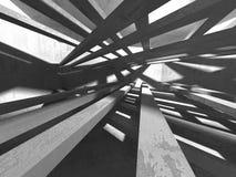 Abstracte geometrische concrete architectuurachtergrond Royalty-vrije Stock Foto's