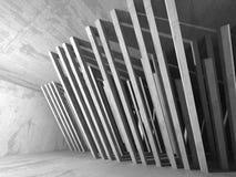 Abstracte geometrische concrete architectuurachtergrond Royalty-vrije Stock Afbeeldingen