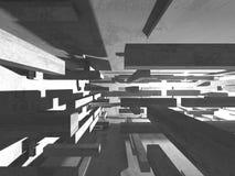 Abstracte geometrische concrete architectuurachtergrond Royalty-vrije Stock Fotografie