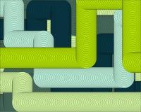 Abstracte geometrische 3D details als achtergrond van de cijferlijnen vector illustratie