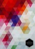 Abstracte Geometrische Driehoekige Achtergrond Royalty-vrije Stock Afbeelding