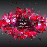 Abstracte Geometrische Driehoeks Vectorachtergrond stock illustratie