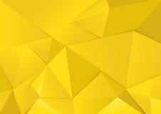 Abstracte geometrische gele toonveelhoek en driehoekenachtergrond Stock Foto's