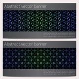 Abstracte geometrische geplaatste banners Royalty-vrije Stock Fotografie