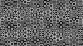 Abstracte geometrische grafische naadloze grijze hexagon patroon trillende achtergrond royalty-vrije illustratie