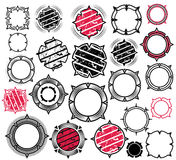 Abstracte geometrische grungy textuurzegels Stock Foto